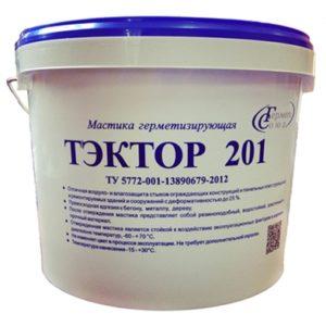 Мастика полиуретановая для швов ТЭКТОР 201 (серый, 12,5 кг)
