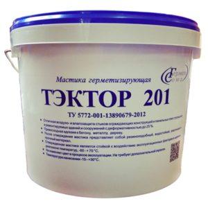 Мастика полиуретановая двухкомпонентная ТЭКТОР 201 (белый, 12,5 кг)