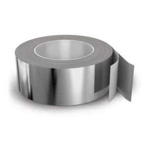 Скотч металлизированный для теплоизоляции (шир. 50 мм., дл. 50 м)