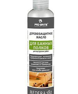 Деревозащитное масло для бани и банных полков Medera 180 (бутыль 1 л)