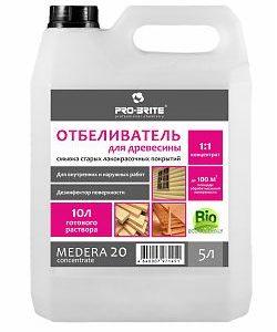 Отбеливатель для древесины Medera 20 (бутыль 1 л) концентрат 1:2