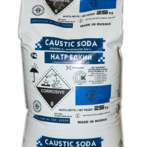 Каустическая сода, каустик, щелочь, натр едкий, NaOH (мешок 25 кг)